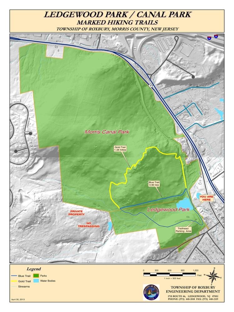 Ledgewood Park/Morris Canal Park Trails
